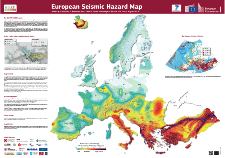 Seismic Hazard risk in Europe