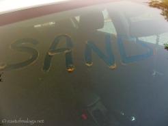 Sand on the car