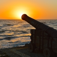 BOOM! The ancient cannon at Torrox Costa